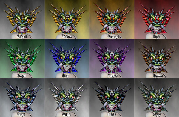Sinister Dragon Mask dye chart