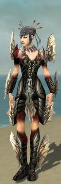 Necromancer Primeval Armor F gray front
