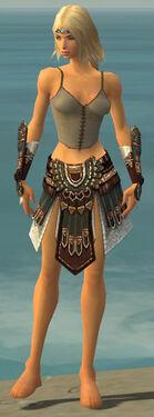 Warrior Vabbian Armor F gray arms legs front