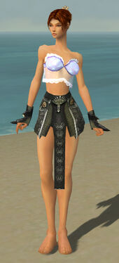 Elementalist Canthan Armor F gray arms legs front