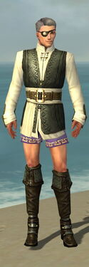 Mesmer Monument Armor M gray chest feet front