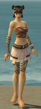 Monk Labyrinthine Armor F gray arms legs front
