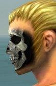Skeleton Face Paint gray side