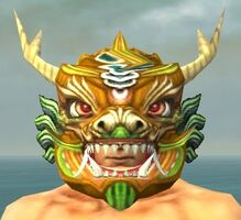 Imperial Dragon Mask gray front