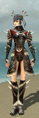 Necromancer Norn Armor F gray front