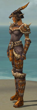 Warrior Charr Hide Armor F dyed side