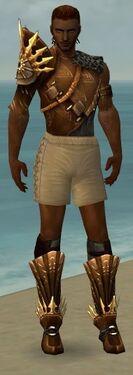 Ranger Elite Sunspear Armor M gray chest feet front