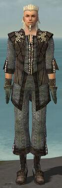 Elementalist Sunspear Armor M gray front