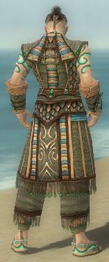 Monk Elite Luxon Armor M gray back