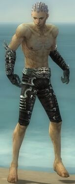 Necromancer Canthan Armor M gray arms legs front