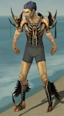 Necromancer Ancient Armor M gray chest feet front