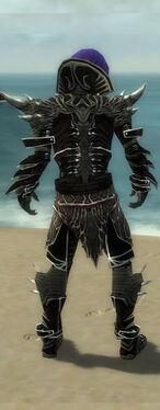 Necromancer Elite Luxon Armor M gray back