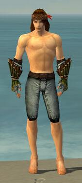 Ranger Druid Armor M gray arms legs front