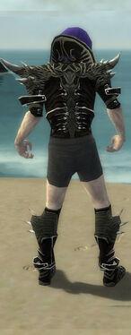 Necromancer Elite Luxon Armor M gray chest feet back
