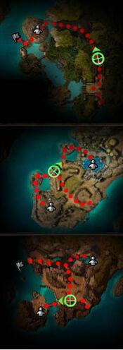Dajkah Inlet map