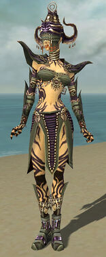 Ritualist Obsidian Armor F gray front