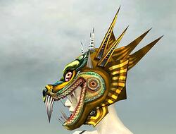 Sinister Dragon Mask gray side