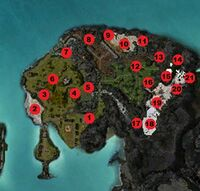 Zaishen Menagerie Grounds map Pet Spots