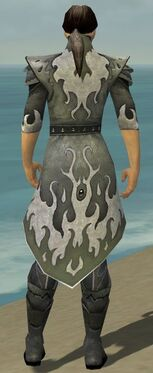 Elementalist Elite Flameforged Armor M gray chest feet back