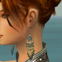 Elementalist Luxon Armor F gray earrings