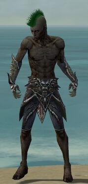 Necromancer Elite Necrotic Armor M gray arms legs front