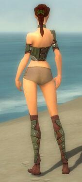 Ranger Elite Studded Leather Armor F gray chest feet back