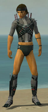 Assassin Elite Canthan Armor M gray chest feet front