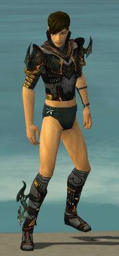 Assassin Elite Kurzick Armor M gray chest feet front