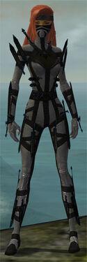 Assassin Obsidian Armor F gray front