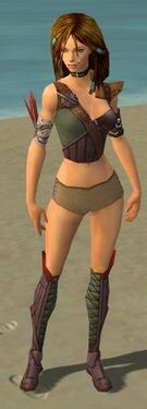 Ranger Tyrian Armor F gray chest feet front