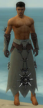 Dervish Elite Sunspear Armor M gray arms legs front