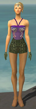 Mesmer Canthan Armor F gray arms legs front