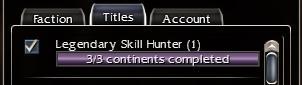 Legendary Skill Hunter Maxed