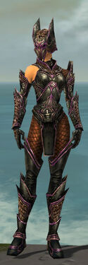 Warrior Kurzick Armor F dyed front