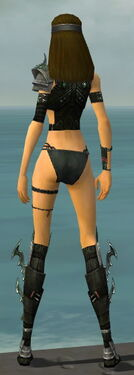 Assassin Elite Luxon Armor F gray chest feet back