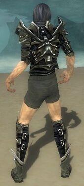 Necromancer Elite Profane Armor M gray chest feet back