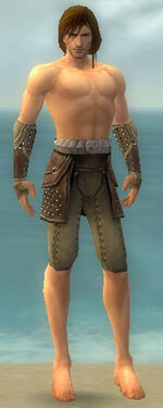 Ranger Studded Leather Armor M gray arms legs front
