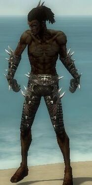 Necromancer Elite Canthan Armor M gray arms legs front