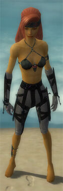 Assassin Obsidian Armor F gray arms legs front