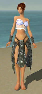 Elementalist Istani Armor F gray arms legs front