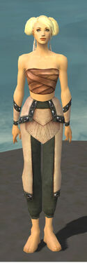 Monk Obsidian Armor F gray arms legs front