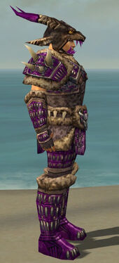 Warrior Charr Hide Armor M dyed side
