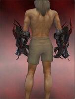 Dragon Gauntlets M dyed back