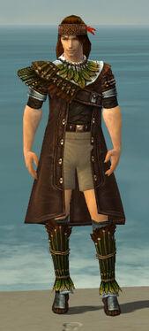 Ranger Druid Armor M gray chest feet front