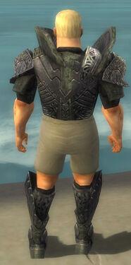 Warrior Elite Platemail Armor M gray chest feet back