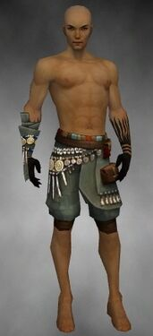Ritualist Luxon Armor M gray arms legs front