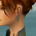 Elementalist Elite Flameforged Armor F gray earrings