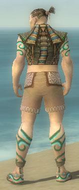 Monk Elite Luxon Armor M gray chest feet back