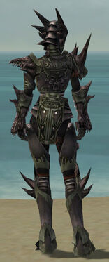 Warrior Primeval Armor F gray back