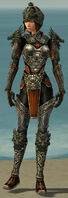 Warrior Elite Canthan Armor F gray front